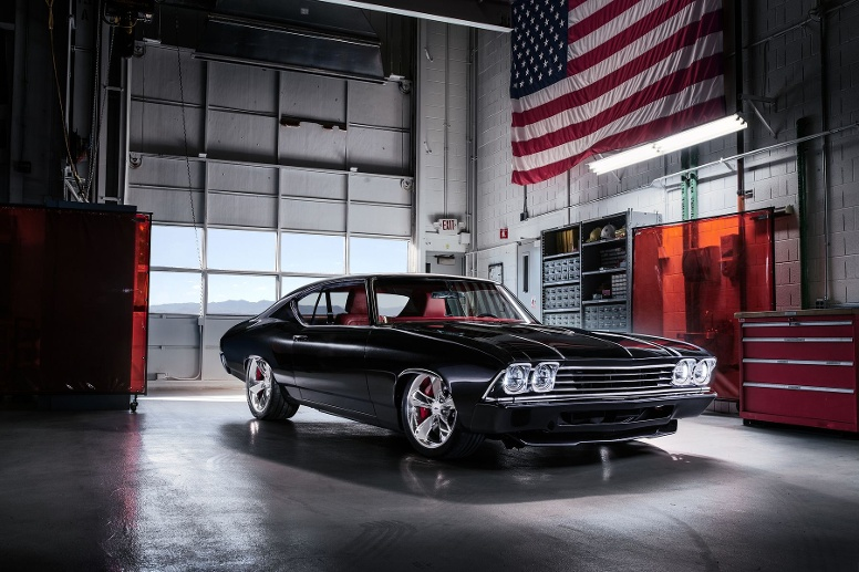 Chevrolet Chevelle Slammer concept: Klassisches Hot-Rod-Design mit modernem Small-Block-Aggregat. (Quelle: Hersteller)