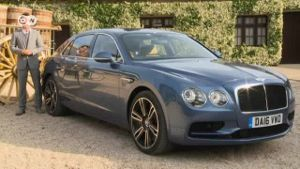 Bentley präsentiert den neuen Flying Spur V8 S. (Screenshot: Deutsche Welle)