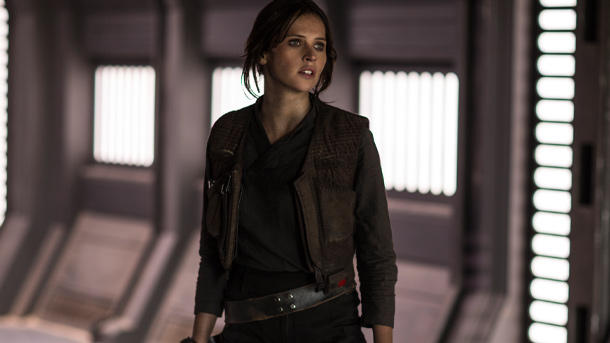 Felicity Jones ist Jyn Erso. (Quelle: 2016 Lucasfilm Ltd. All Rights Reserved)