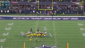 Die Green Bay Packers um Quarterback Aaron Rodgers haben in der Football-Profiliga NFL Titelkandidat Dallas Cowboys ausgeschaltet und das Play-off-Halbfinale erreicht. (Screenshot: Perform/ePlayer)