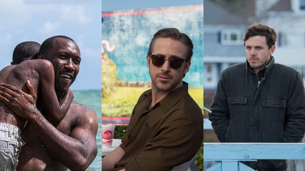 "Oscars 2017: Bester Film - Das sind die Kandidaten. Wer macht das Oscar-Rennen 2017? Szenenfotos aus den Kandidaten für ""Bester Film"" ""Moonlight"", ""La La Land"" und ""Manchester by the Sea"" (l-r). (Quelle: DCM/StudioCanal/Universal)"