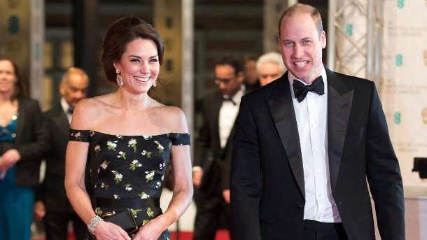 Herzogin Kate und Prinz William bei der Verleihung der BAFTAs in London. (Quelle: Reuters)