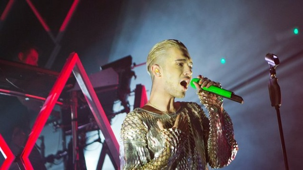 "Tokio Hotel starten ihre Welttournee in London. Bill Kaulitz, Sänger der Band Tokio Hotel, im ""KOKO""-Club in London."