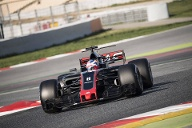 Der 2017er-Wagen vom Haas F1 Team (Quelle: imago/Pacific Press Agency)