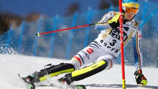 Felix Neureuther: Zweiter hinter Weltmeister Hirscher. Felix Neureuther in Aspen (Quelle: Jeffrey Swinger)