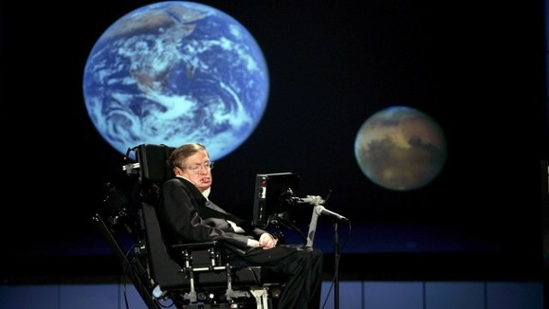 Leute: Stephen Hawking will ins All fliegen. Der britische Physiker Stephen Hawking 2008 an der George Washington University in Washington.