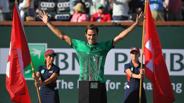 Tennis: Federer triumphiert beim Turnier in Indian Wells. Rogerer Federer feierte in Indian Wells seinen 90. Turniersieg. (Quelle: dpa)