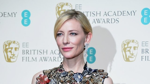 "Film: Cate Blanchett als düstere Hela in ""Thor""-Sequel. Cate Blanchett bei den British Academy Film Awards 2016 in London."