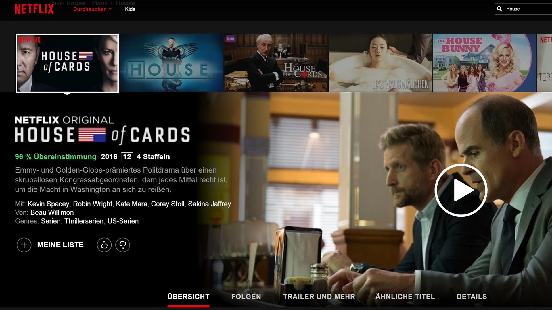 house of cards staffel 5 netflix start