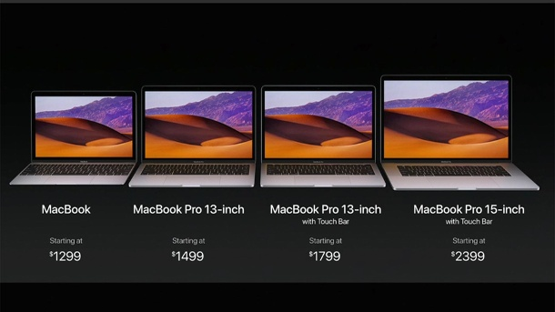 Apple MacBook LineUp  (Quelle: Apple)