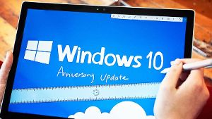 Ein Tablet mit Windows 10