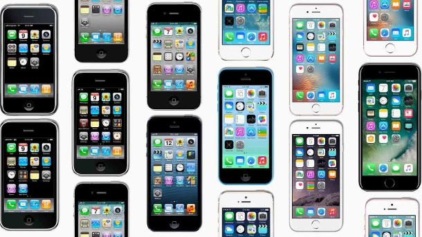 Mosaik aus Apple iPhones (Quelle: t-online.de/Apple)