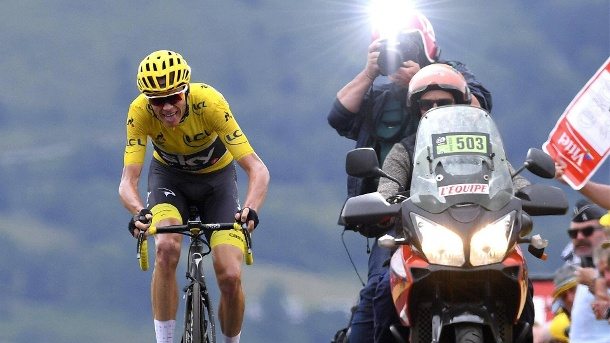 Tour de France: Romain Bardet siegt, Froome verliert Gelb. Christopher Froome (Quelle: imago/Panoramic International)