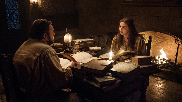 Samwell Tarly und Goldy in der Zitadelle bei Game of Thrones (Quelle: Helen Sloan HBO)