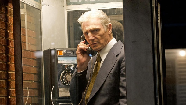 """The Secret Man"": Liam Neeson als Informant in der Watergate-Affäre. Liam Neeson (als Mark Felt) in einer Szene des Films ""The Secret Man"". (Quelle: dpa/Kinostar Filmverleih)"
