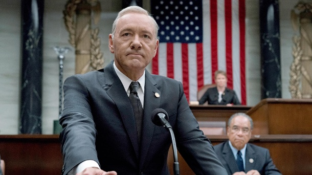 "Wegen Missbrauchs-Skandal: Netflix feuert Kevin Spacey mit sofortiger Wirkung. Im TV-Hit ""House of Cards"" spielt Kevin Spacey den fiktiven US-Präsidenten Frank Underwood. (Quelle: dpa/Archivbild/David Giesbrecht/Sky)"