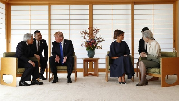 Image result for trump akihito
