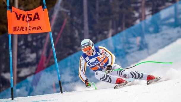 Ski alpin: Skiverband feiert Speed-Trio und Olympia-Quali. Andreas Sander rast in Beaver Creek die Piste hinunter.