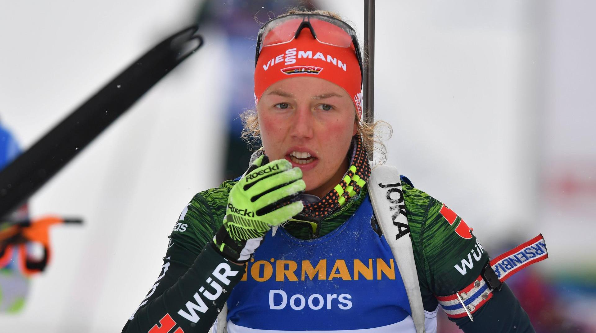 sprint der damen biathlon