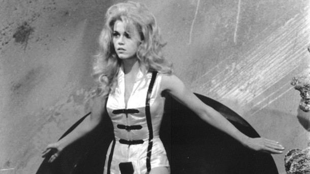 "Jane Fonda 1968 im Film ""Barbarella"".  (Quelle: dpa)"