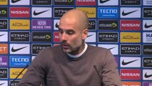 Manchester-City-Trainer Pep Guardiola übt scharfe Kritik am Spielplan in der englischen Premier League (Screenshot: Omnisport)