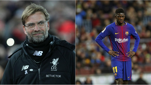Image result for Ousmane Dembele and Klopp