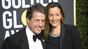 January 7 2018 Los Angeles California U S HUGH GRANT AND ANNA EBERSTEIN during red carpet ar