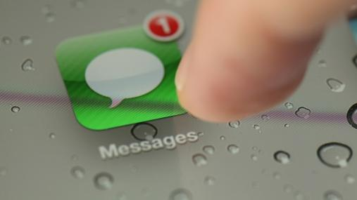 Textbombe bringt Apple-App zum Absturz. Messages auf dem iPhone: Textbombe bringt App zum Absturz (Quelle: Getty Images)