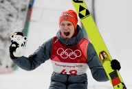 Olympische Spiele 2018 in Pyeongchang: Andreas Wellinger, Gold im Skispringen (Quelle: AP/dpa/Kirsty Wigglesworth)