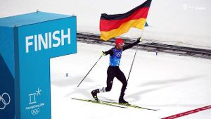 Olympia 2018 in Pyeongchang: Nordische Kombinierer holen Gold in der Staffel (Screenshot: Imago)