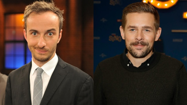 """Late Night Berlin""-Premiere – Jan Böhmermann crasht Klaas' Show. Jan Böhmermann: Er hat Klaas Heufer-Umlauf auf die Schippe genommen. (Quelle: WENN.com / Andreas Rentz/Getty Images)"