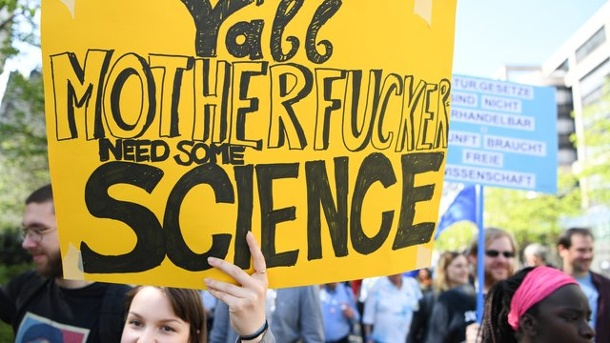 "Wissenschaftler demonstrieren in Stuttgart. ""March for Science"""