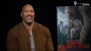 'Rampage – Big Meets Bigger': t-online.de-Interview mit The Rock (Screenshot: t-online.de)