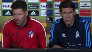 Europa League Finale zwischen Atletico Madrid und Olympique Marseille (Screenshot: SID)