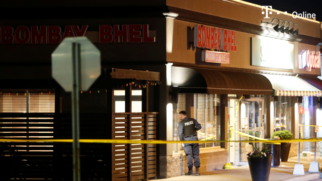 Bombe in indischem Restaurant explodiert (Screenshot: Reuters)