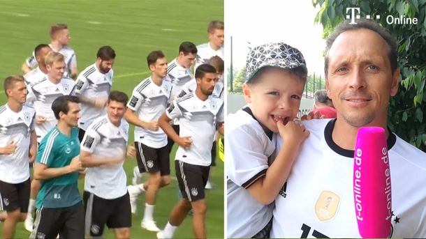 DFB-Team enttäuscht Fans im Trainingslager in Eppan (Screenshot: Reuters)