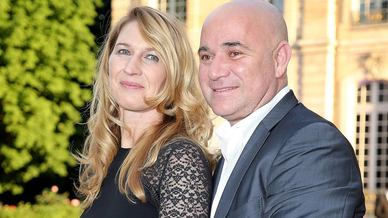 seltener paar auftritt von steffi graf und andre agassi. Black Bedroom Furniture Sets. Home Design Ideas
