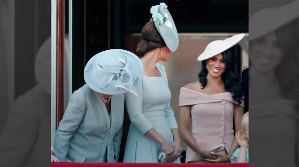 "Bei ""Trooping the Colour""-Parade: Darum stand Meghan auf dem Balkon hinter Kate (Quelle: Promipool)"