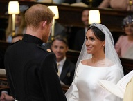 Ja, ich will: Harry und Meghan beim Jawort. (Quelle: Dominic Lipinski - WPA Pool/Getty Images)