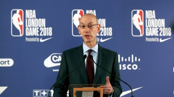 basketball nba boss adam silver verl ngert bis 2024. Black Bedroom Furniture Sets. Home Design Ideas