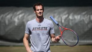 Andy Murray beim Training in London.