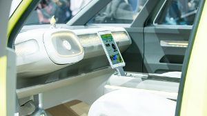 Cockpit des Volkswagens I.D. Buzz: 'Apple inside'