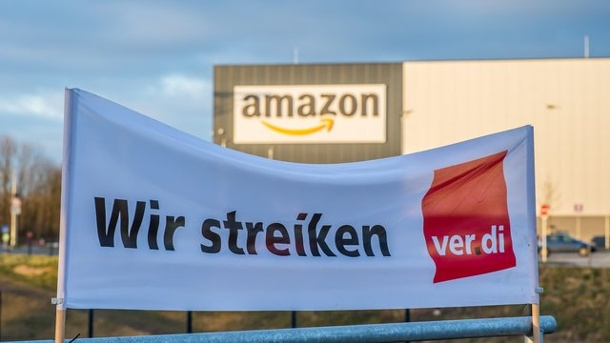 Streik bei Amazon in Bad Hersfeld am