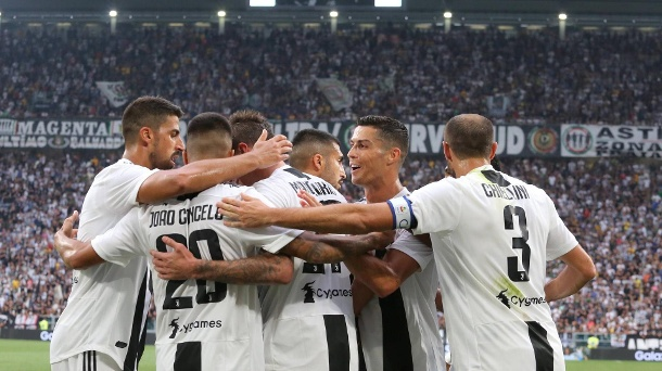August 25 2018 Turin Piedmont Italy Cristiano Ronaldo Juventus FC and others Juventus playe (Quelle: Imago)