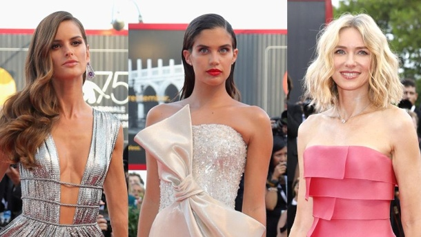 Filmfestspiele in Venedig: Die schönsten Looks der Stars. In Venedig: Izabel Goulart, Sara Sampaio und Naomi Watts. (Quelle: Getty Images)