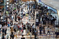 Check-in am Haneda Flughafen in Tokio: Der internationale Terminal eröffnete 2010. (Quelle: imago images/AFLO)