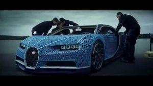 Bugatti Chiron in Originalgröße - aber aus Lego (Screenshot: Reuters)