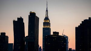 New York City USA August 6 2018 Illustrative picture of New York City View of the Empire State