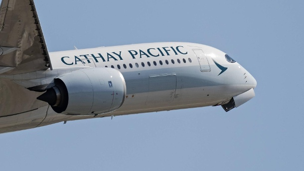 China-Airline Cathay Pacific schreibt falschen Namen auf eigenen Flieger. Cathay Pacific Airways (Quelle: imago images/ZUMA Press)