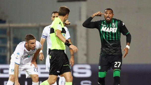 Serie A: Kevin-Prince Boateng trifft erneut für Sassuolo. Kevin-Prince Boateng (r) traf erneut für Sassuolo Calcio.